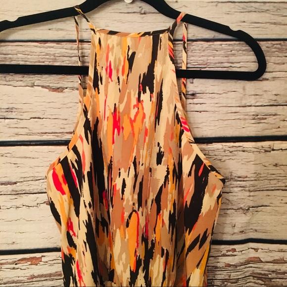 Banana Republic Dress Size 4. Tan, Orange, Brown
